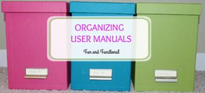 HOW TO ORGANIZE USER MANUALS