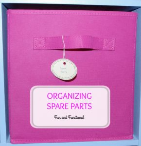 HOW TO ORGANIZE SPARE PARTS