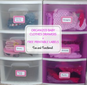 ORGANIZED BABY CLOTHES DRAWERS + FREE PRINTABLE LABELS