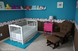 PINK AND TURQUOISE BABY GIRL NURSERY REVEAL