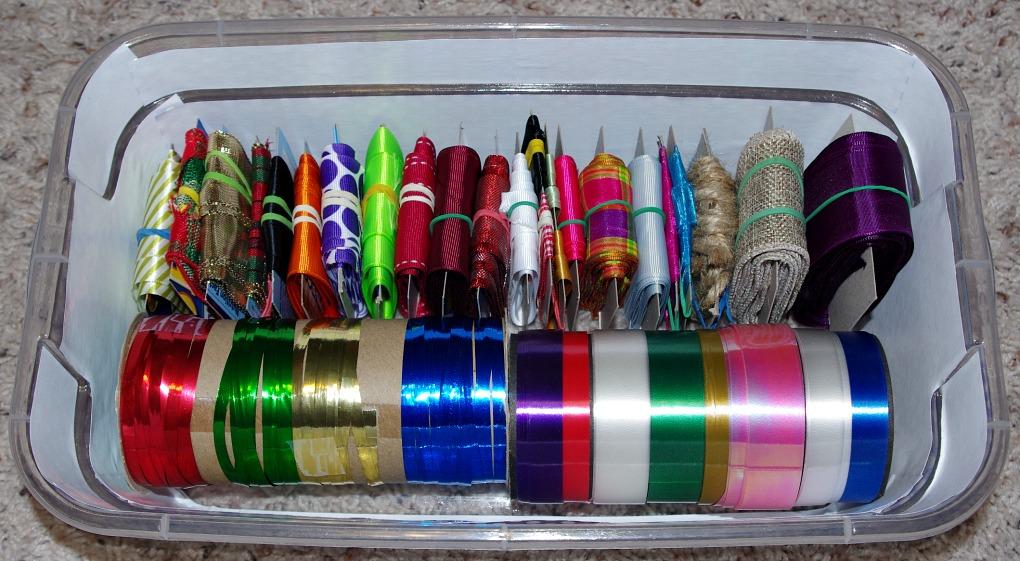 Organizing, Ribbon, Bows, Gift Bag, Cereal Box, Gift Wrapping Supplies, Organizing with Cereal Boxes