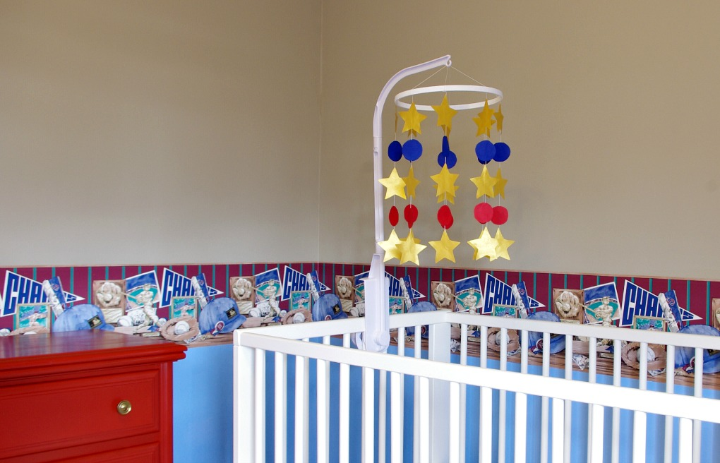 Baby Boy Nursery Baseball Mobile Stars DIY Cardstock