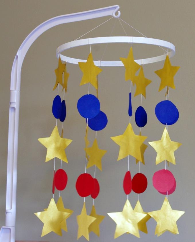 Baby, Boy, Nursery, Baseball, Mobile, Stars, DIY Mobile, Cardstock