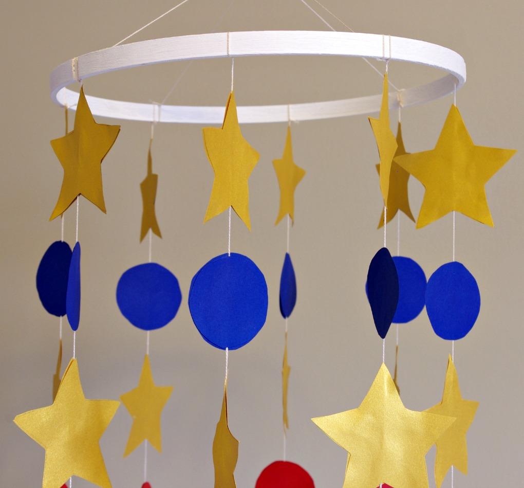 Baby, Boy, Nursery, Baseball, Mobile, Stars, DIY Mobile, Cardstock, Baseball Room