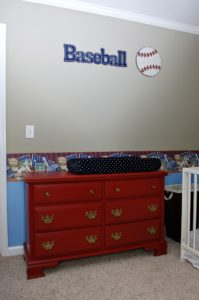 BABY BOY BASEBALL NURSERY REVEAL