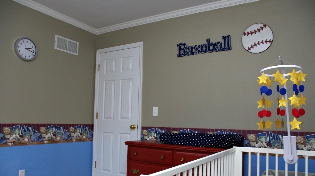 Baby Boy Baseball Nursery Reveal Fun