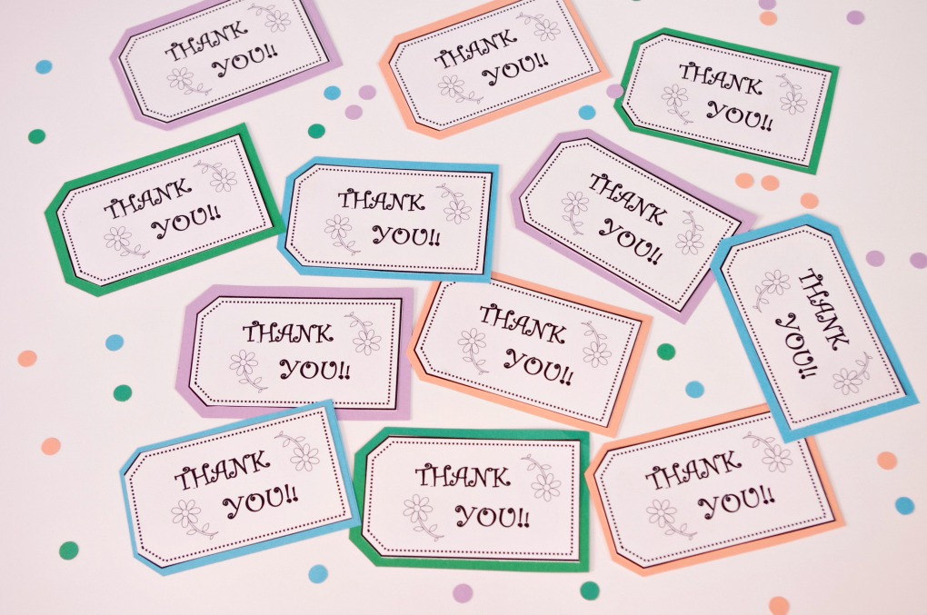 photograph about Thank You Printable Tag named Cost-free PRINTABLE THANK Yourself TAGS - Enjoyment And Practical Weblog