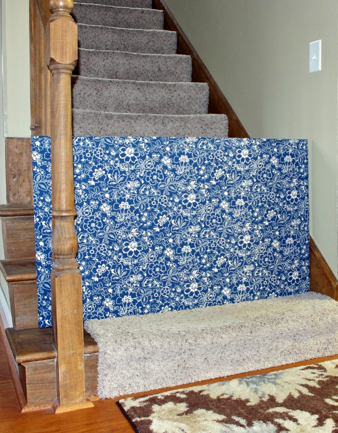 Bottom Of Stairs Baby Gate Custom Diy Fabric