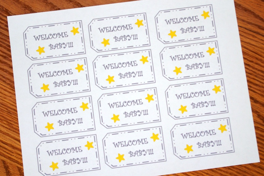 graphic about Printable Baby Gift Tags known as Absolutely free PRINTABLE WELCOME Little one TAGS - Entertaining And Sensible Website