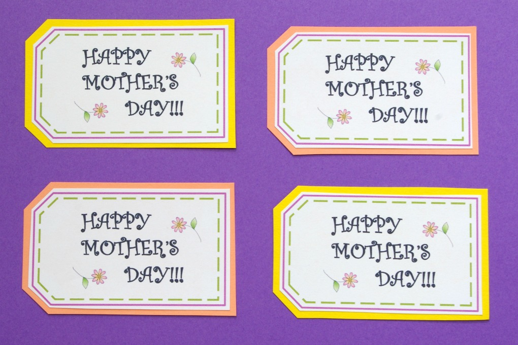 photograph regarding Free Printable Mothers Day Tags titled Absolutely free PRINTABLE Moms Working day TAGS - Enjoyable And Useful Weblog