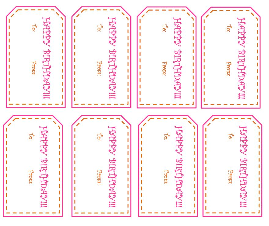 Free Printable Happy Birthday Tags Fun And Functional Blog